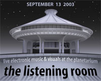 Flyer: The Listening Room 2003