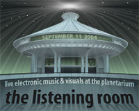 Flyer: The Listening Room 2004